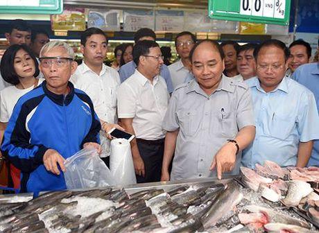 Chum anh: Thu tuong Nguyen Xuan Phuc di sieu thi, mua gio, kiem tra suat an cong nghiep - Anh 6