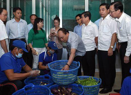 Chum anh: Thu tuong Nguyen Xuan Phuc di sieu thi, mua gio, kiem tra suat an cong nghiep - Anh 7