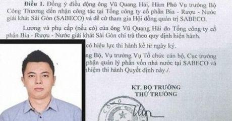 Chi dao noi bat: Bao cao Thu tuong vu bo nhiem con trai cuu bo truong - Anh 1