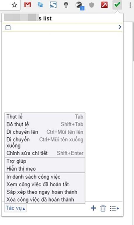 Quan ly danh sach nhung viec can lam ngay trong Google Chrome - Anh 1