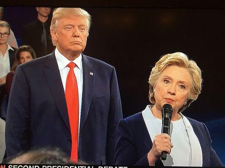 Tranh luan vong 2: Clinton - Trump kho biet thang thua - Anh 2