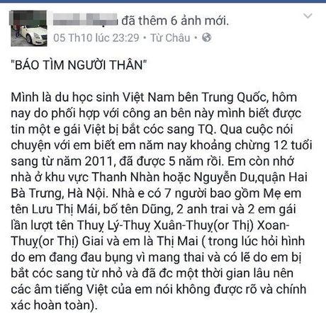 'Bi an' thong tin be gai 12 tuoi mang bau nghi bi ban sang Trung Quoc - Anh 1