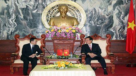Bi thu Trung uong Dang, Chanh an TANDTC Nguyen Hoa Binh tiep Doan dai bieu VKSNDTC Trung Quoc - Anh 1