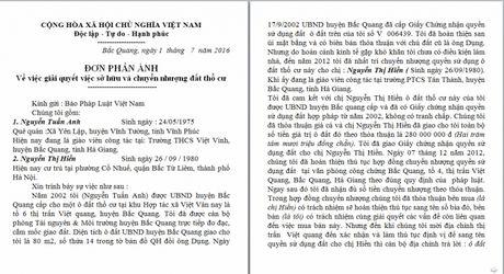 Bac Quang (Ha Giang): Dan khieu kien vi dat co so do nhung khong duoc su dung - Anh 1
