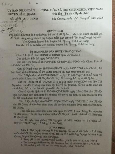 Bac Quang (Ha Giang): Dan khieu kien vi dat co so do nhung khong duoc su dung - Anh 3