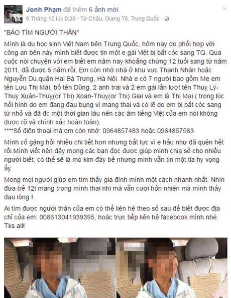 Canh sat TQ xac nhan dang tam giu mot be gai 12 tuoi nguoi Viet mang thai - Anh 3