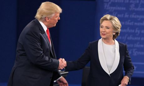 Bau cu My: Ba Clinton lai thang ap dao trong cuoc tranh luan lan 2 - Anh 1