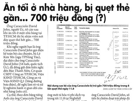 An toi, nha hang quet the gan 700 trieu dong: UBND TP.HCM chi dao lam ro - Anh 1