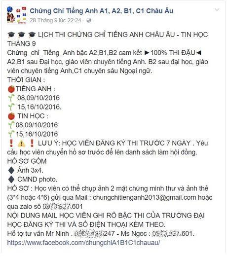 Ke ho truc loi thi chung chi tieng Anh chuan chau Au - Anh 3