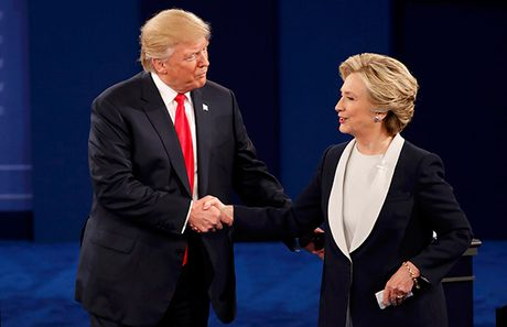 'Cuoc chien' ngon ngu co the giua Trump va Clinton trong cuoc tranh luan thu 2 - Anh 1