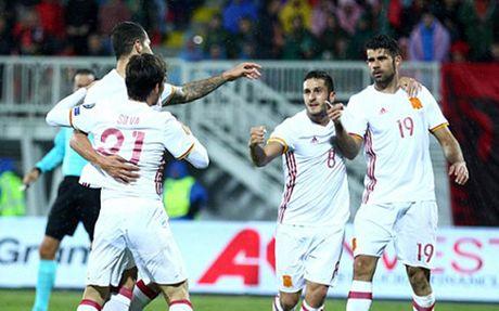 Costa ghi ban, Tay Ban Nha ha guc Albania - Anh 1