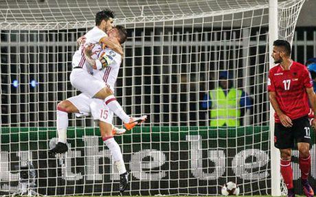 Costa ghi ban, Tay Ban Nha ha guc Albania - Anh 2