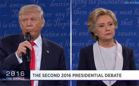 Bau cu My 2016: Trump lan luot Hillary trong cuoc tranh luan lan 2 - Anh 3