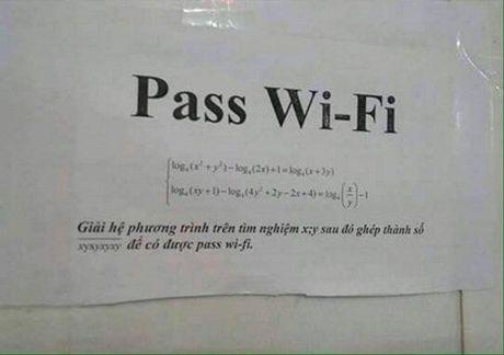 Ban da tung gap nhung mat khau wifi ba dao nhu the nay chua? - Anh 1