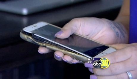 iPhone 6 Plus tiep tuc phat no khi dang sac - Anh 1