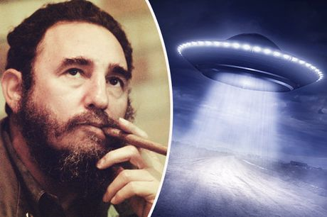 Soc: Lanh tu Cuba Fidel Castro tung gap UFO - Anh 1