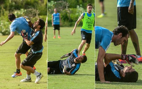Barca suyt dieu dung khi Suarez gia lam thu mon - Anh 1