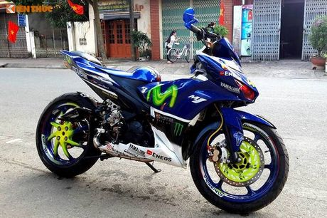 Exciter 135 do X1R 'sieu khung' cua dan choi Vinh Phuc - Anh 1