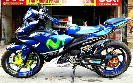 Exciter 135 do X1R 'sieu khung' cua dan choi Vinh Phuc - Anh 5