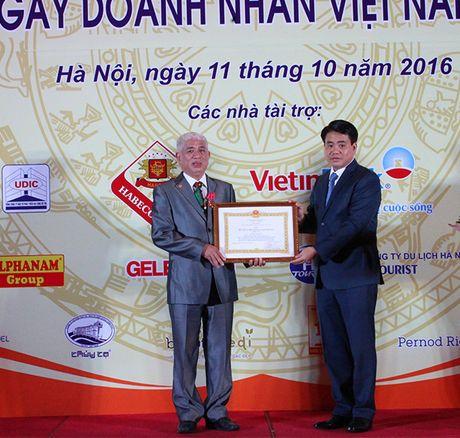 Ha Noi vinh danh cac doanh nghiep, doanh nhan - Anh 1