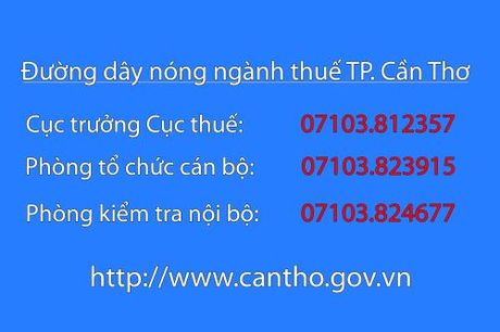 Cong khai so dien thoai lanh dao nganh thue Can Tho - Anh 1