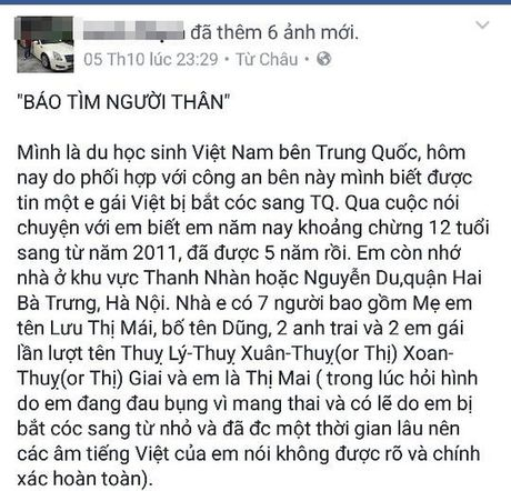 No luc theo dau be gai 12 tuoi nguoi Viet mang thai o Trung Quoc - Anh 2