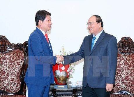 Thu tuong Nguyen Xuan Phuc tiep Thi truong thanh pho Daegu - Anh 1