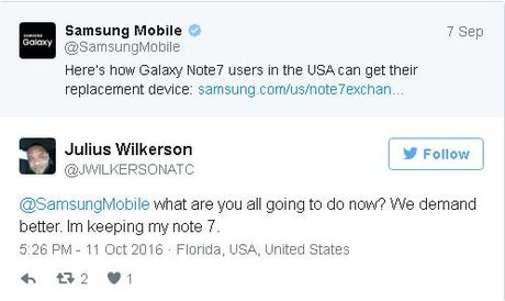 "Nhieu fan cua Galaxy Note7 van kien quyet ""om bom"" - Anh 2"