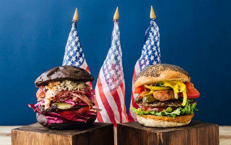 Quan cafe ban banh burger Trump va Clinton - Anh 1