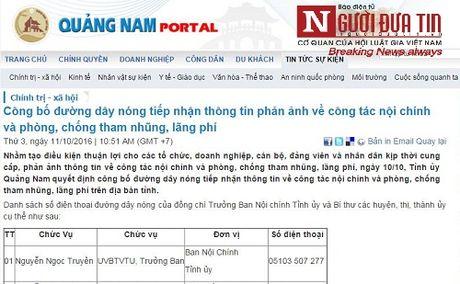 Cong bo duong day nong tiep nhan thong tin tham nhung, lang phi - Anh 1