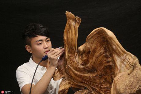Trung Quoc: Thanh nien tre noi tieng nho tai dieu khac go - Anh 1