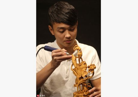 Trung Quoc: Thanh nien tre noi tieng nho tai dieu khac go - Anh 2