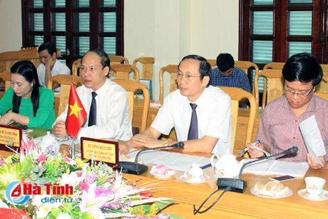 Ha Tinh giup Lao trien khai du an thuy loi tai Kham Muon dam bao tien do, chat luong - Anh 1