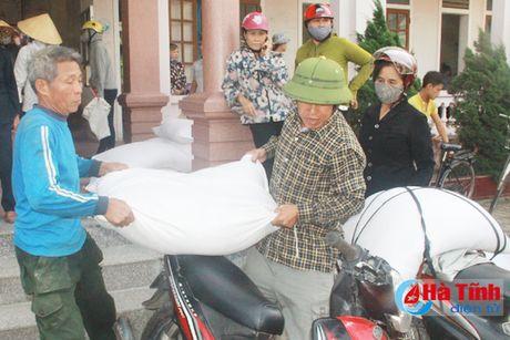 Nghi Xuan phan bo gan 300 tan gao ho tro ngu dan - Anh 1