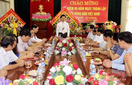 Thuong truc Tinh uy tang hoa chuc mung Hoi Nong dan - Anh 1