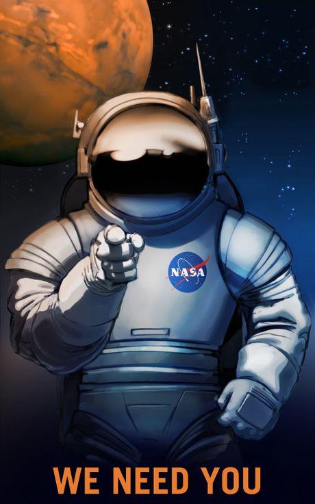 Moi xem poster tuyen nguoi len sao Hoa cua NASA, neu hop hay nop don xin! - Anh 1