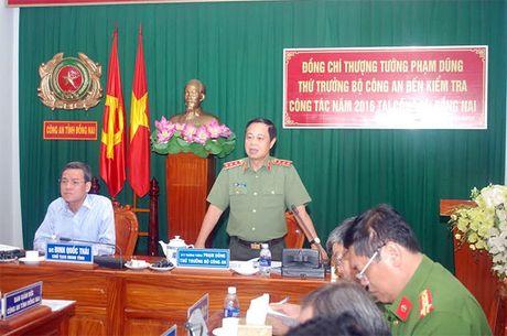 Thu truong Pham Dung lam viec voi Cong an va Canh sat PCCC tinh Dong Nai - Anh 1