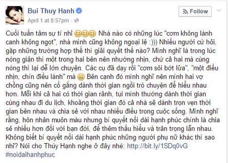 Bi quyet giu lua hanh phuc gia dinh cua cuu mau Thuy Hanh - Anh 3