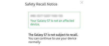Samsung: Galaxy S7 van an toan, khong can doi tra - Anh 2