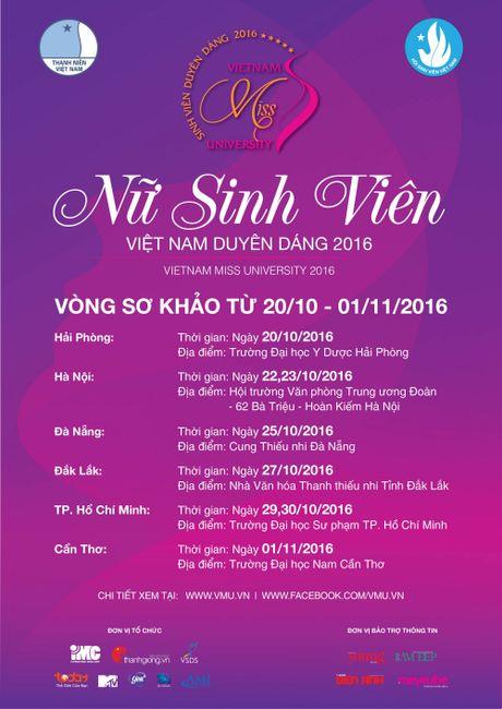 'Nu sinh vien Viet Nam duyen dang 2016' chinh thuc buoc vao vong so khao - Anh 9