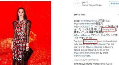 Ho Ngoc Ha bi doi ten tren trang chu Gucci - Anh 1