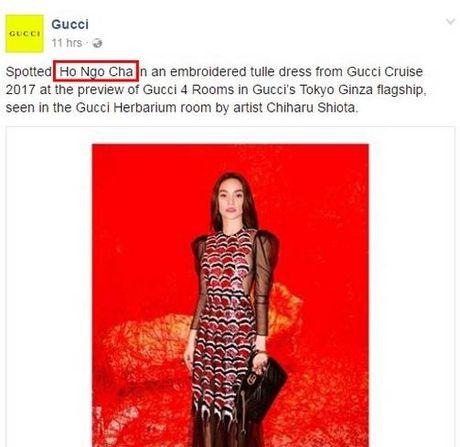 Ho Ngoc Ha bi doi ten tren trang chu Gucci - Anh 4