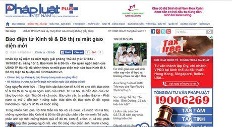 Ban doc danh gia cao giao dien moi cua Bao Kinh te & Do thi dien tu - Anh 4