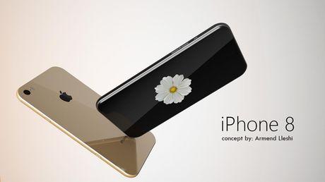 iPhone 8 man hinh 4K, kich thuoc sieu mong - Anh 1