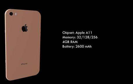 iPhone 8 man hinh 4K, kich thuoc sieu mong - Anh 3