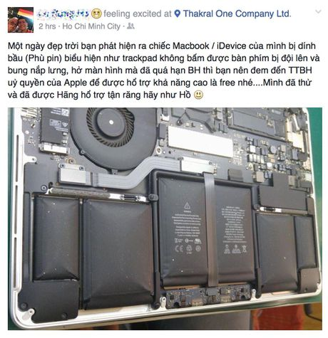 Neu iPhone va Macbook het bao hanh ma bi phu pin, ban co the duoc doi moi mien phi - Anh 1
