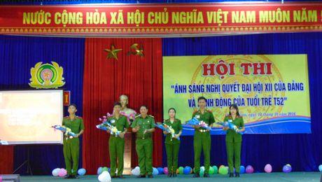 Truong Trung cap CSND V to chuc Hoi thi tim hieu Nghi quyet Dai hoi XII - Anh 1