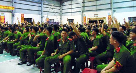 Truong Trung cap CSND V to chuc Hoi thi tim hieu Nghi quyet Dai hoi XII - Anh 4