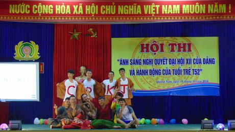 Truong Trung cap CSND V to chuc Hoi thi tim hieu Nghi quyet Dai hoi XII - Anh 6