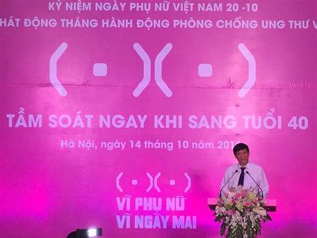 Hon 10.000 nguoi se duoc kham sang loc ung thu vu - Anh 1